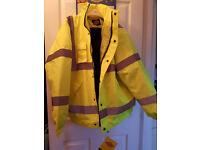 High Visability Waterproof Padded Jacket