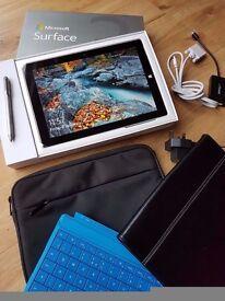 Microsoft Surface 3 128GB 4GB Windows 10 Tablet PC Plus Accessories