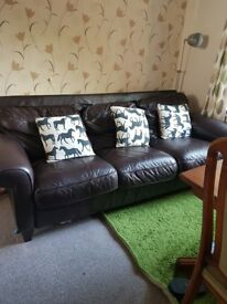 Leather 3 seat sofa for sale.