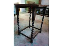 Dark Wood Square Table