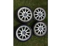 "Mondeo Mk3 Ghia X 18"" 10-spoke Split Rim Style Alloy Wheels x4"