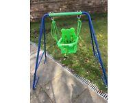 Garden swing for baby