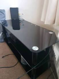 Large glass tv unit