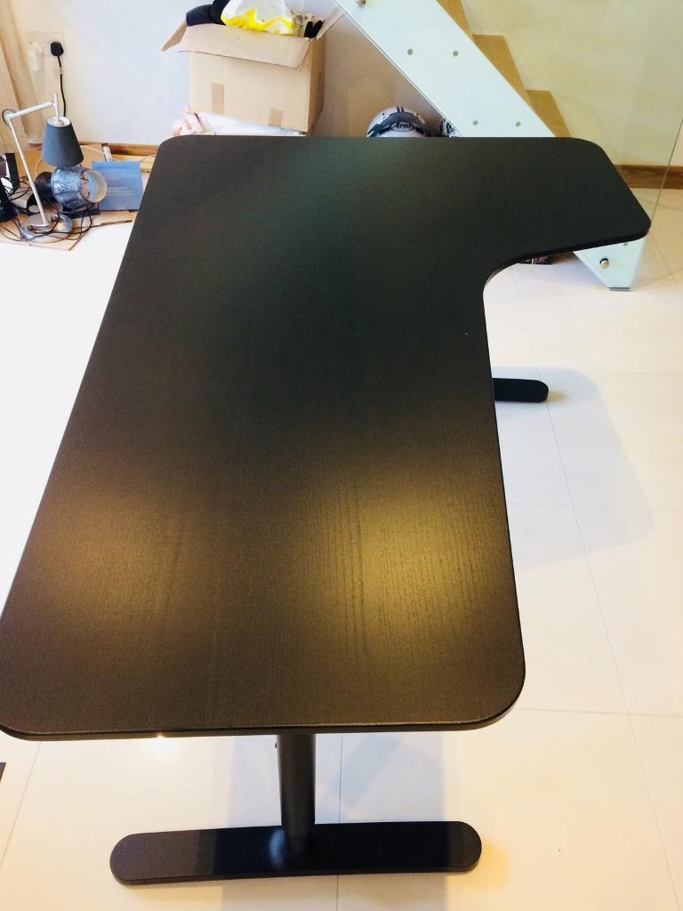 Ikea Corner Desk Right Bekant Black Brown