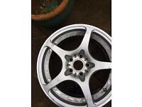"Volk Ray Engineering F Zeros Light Weight Racing Alloy wheels 17"""