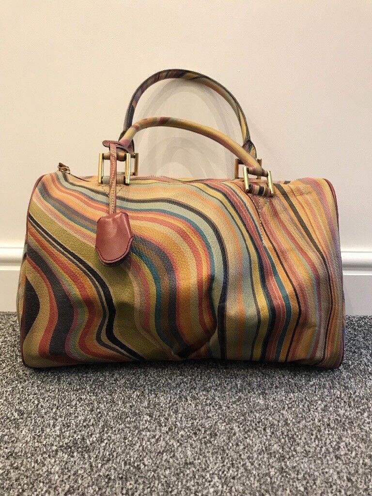 Paul Smith Handbag Las Leather Swirl Signature Print