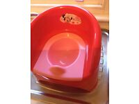 Mothercare Minnie Mouse Potty in red and pink, excellent condition