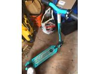 Zinc child's electric scooter in light blue