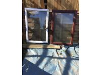 2 PVC window triple glazed brown & white color , real real bargain
