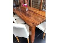Harvey Table and seperate Chairs for sale Mango Wood