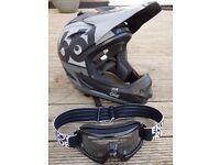 Kids 661 Full Face Mountain Bike Helmet and O'Neal Goggles