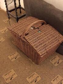 Wicker. Hand made picnic /storage basket