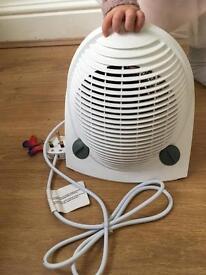 Small white fan heater