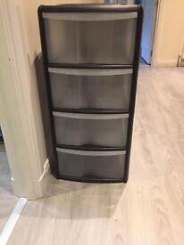 Job Lot 5x plastic 4 drawer storage units