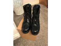 Steel toe camp boots
