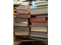 Large lot of vintage books, display, crafting, wedding tables?