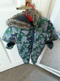 Boys all in one coat Size up to 1 month