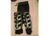Nike shin Pads with ankle sleeves - Size Medium