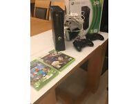 250g Xbox 360 slim W/ 2 controllers, Fifa street and Minecraft + Turtle Beach XL1 Headset