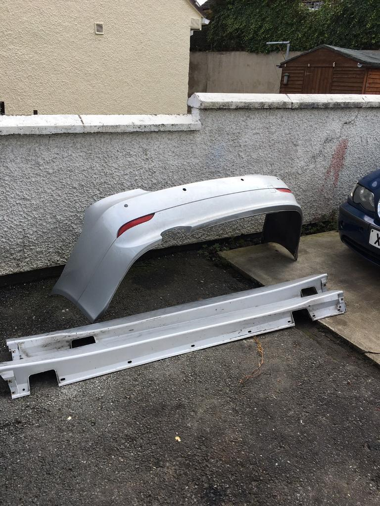 Bmw e60 5 series rear bumper and skirts