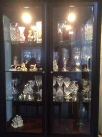 Stag Minstrel Glass / Mahogany Display Cabinet