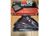 K&N air filter + cleaning kit + fuel filter - 99 Kawasaki zx9r C2