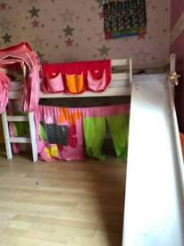 Girls chute bed