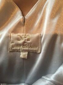 Jenny packham long silver dress