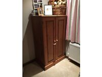 Waxed pine wardrobe ideal for children or coats
