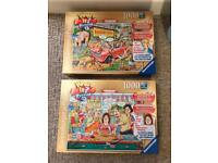 Two boxes of jigsaws - only used once