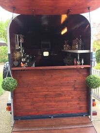 Horse trailer converted into bar/catering unit