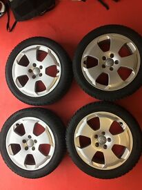 Winter Tyre & Wheel Package - Audi 17in Wheels with Dunlop SP Winter Sport 3D Tyres