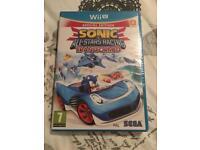 Wii U Sonic all stars racing transformed