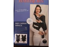 Baby Bjorn Miracle Baby Carrier like new, worn twice