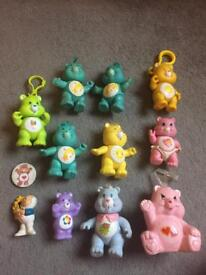 Vintage care bear get along gang wuzzle toy Figure poseable 1980s bears