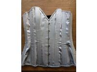 What Katie Did Overbust Corset in Silver-Grey, Size 24""
