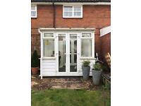 White doubled glazed upvc conservatory