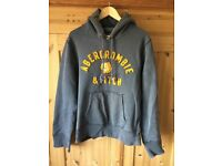 Men's Abercrombie & fitch hoody in grey/yellow. Size xl
