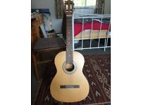 Left Handed Ashbury Acoustic guitar + accessories