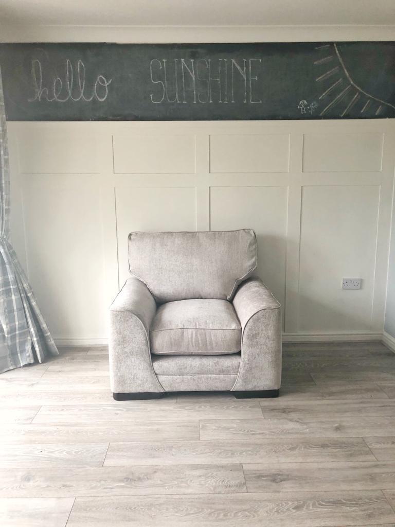 Ex Display Grey Armchair