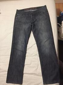 36R inch straight cut jeans.