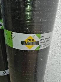Two brand new rolls of torch on felt