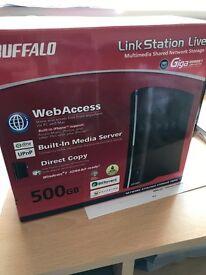 Buffalo LinkStation Live 500GB NAS hard drive