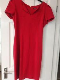 """Roman red dress. Size 14. 40"""" long. Vgc"""