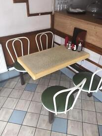 Cafe contents tables,chairs, fridge freezers, espresso machine, lots more as to be sold asap.