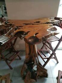 Beautifull and unique wooden high table