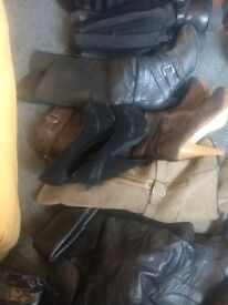 Women's boots, wedges Flats size 7