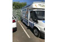 Ice cream van worker full time work