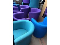 Turquoise, Blue & Purple Tub Bucket Armchair Reception Chairs