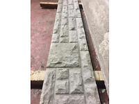 Rock face base panels fencing